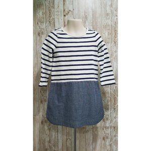 Gap Striped And Chambray Dress T Shirt sz 4 T 157
